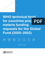 WHO - 2020 - WHO technical brief for Global Fund funding requests