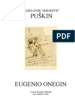 Aleksandr Pushkin Eugenio Onegin