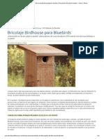 Pajarera de bricolaje para pájaros azules _ Proyectos de patio trasero - Aves y flores