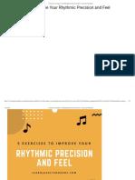 5 Exercises Improve Rhythmic Precision and Feel