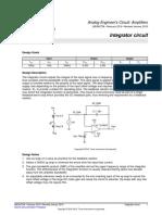 Como diseñar un circuito integrador por Texas Instruments
