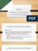 Tema 7. La Revolución industrial inglesa