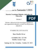Aplicacion de las tecnologias digitales en una organizacion educativa