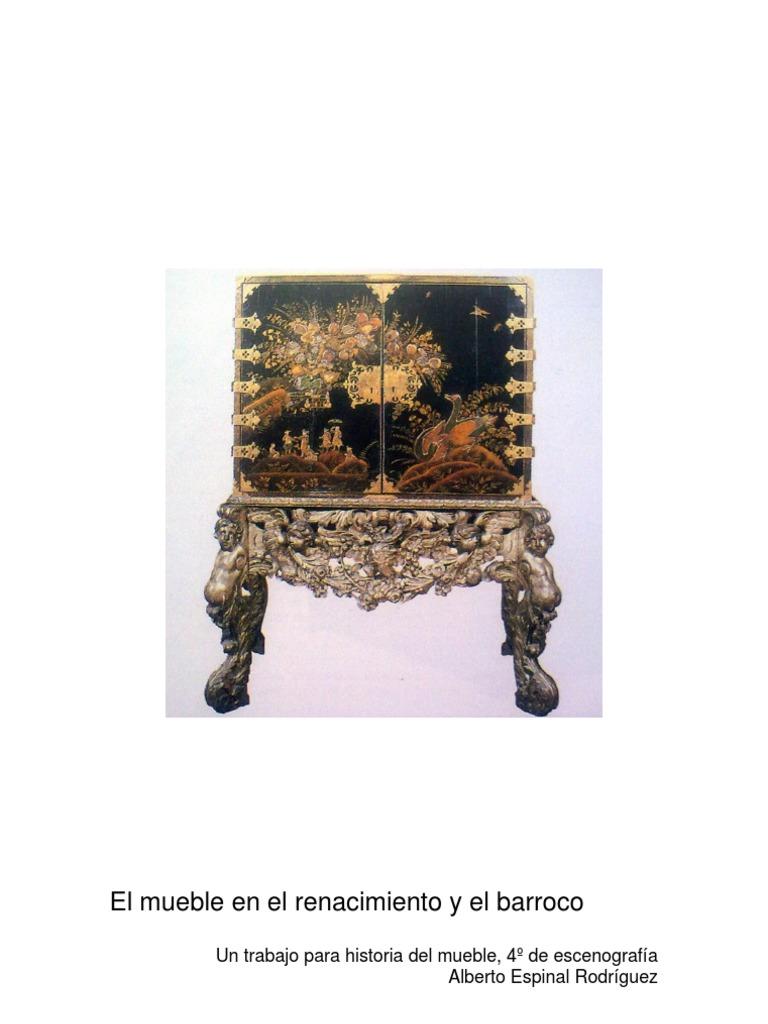 Historia del mueble: Renacimiento y barroco