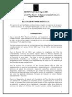 Decreto 318 de 2006 Plan Maestro de Salud