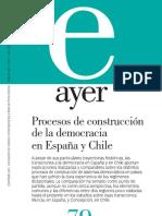 Procesos de contrucción de la democracia Chile-España