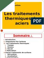 Les traitements thermiques des aciers