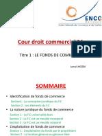 Droit-Fond de commerce