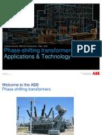 Phase Shifting Transformer Persentation-ABB