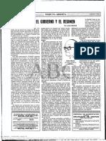 Artigo = El Gobierno y el Regime