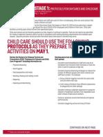 Stage 1 Childcare Protocols