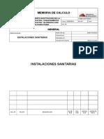 303754968 Memoria de Calculo Instalaciones Sanitarias