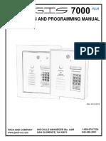 aegis 7000P-2011 manual