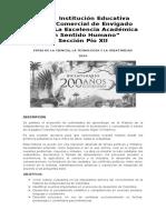 ACTIVIDAD BICENTENARIO FERIA DE LA CIENCIA