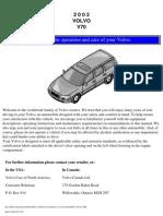 VOLVO V70 2002 User Manual