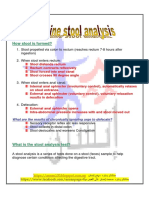 Stool Analysis-