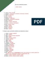 Correção de Exercícios sobre substantivos