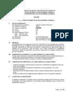 Syllabus 2020 I CALCULOS Economicos en Ing Quim Fqiq Unmsm