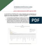 UDG Observaciones ASF 2018
