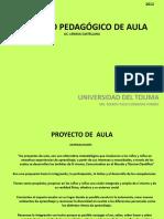 Proyecto Pedagógico de Aula lic lengua castellana