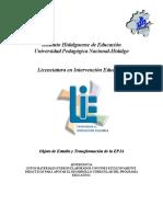 Objeto de Estudio y Transformación de la EPJA