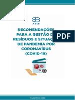 Gestão de Resíduos e COVID-19