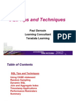 SQL Tips & Techniques