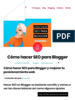Cómo hacer SEO para Blogger y mejorar tu posicionamiento [ Mega-Guía]