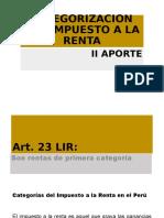TRIBUTARIO II RENTA