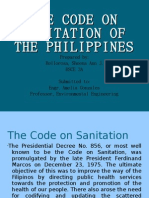 The Code on Sanitation of the Philippines
