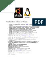 Combinaciones de teclas en Ubuntu