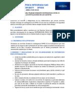 PROTOCOLO PARA TRABAJO DURANTE COVID-19 EN LAS INSTALACIONES CLIENTES
