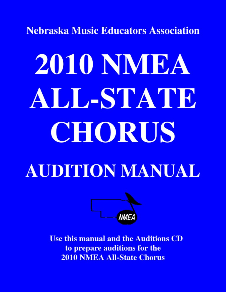 2010 All-State Chorus Manual | Audition | Singing
