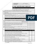 Operations and Maintenance Checklist