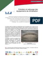 CLIMATISATION - Entretien et nettoyage equipements clim