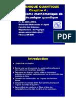 Chapitre 4 Formalisme mathématique de la mécanique quantique