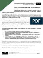 INDICACIONES A TENER EN CUENTA EN EL CUADERNO DE BITÁCORA PARA EL LABORATORIO