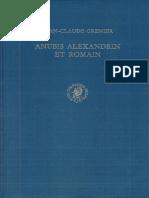 Anubis alexandrin et romain-Brill Academic Publishers (1972)