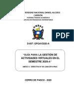 ANEXO 3 - DIRECTIVA N° 01-2020  - GUIA PARA LA GESTION DE ACTIVIDADES VIRTUALES