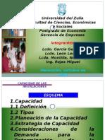 CAPACIDAD DE INSTALACIONES