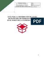 GUÍA PARA LA DISTRIBUCIÓN DE AYUDA HUMANITARIA DE EMERGENCIA – AHE EN EL...