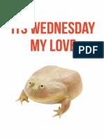 wednesday my love