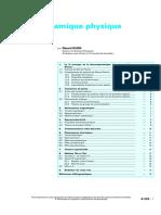 Livre - Chimie - Techniques De L'ingénieur - Thermodynamique Physique