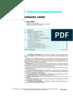 Radar - Af3372 Techniques De L Ingenieur - Materiaux En Electromagnetisme - Materiaux Absorbants Radar