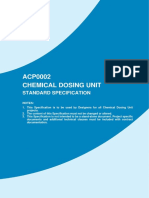 Chemical dosing unit - standard specifications