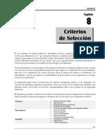 cap8 criterios de seleccion