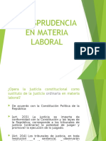 JJURISPRUDENCIA  EN MATERIA LABORAL. doctrina legal