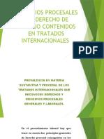 PRINCIPIOS PROCESALESEN CONVENIOS INTERNACIONALES.