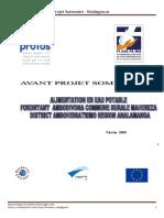 3.1. Avant Projet Sommaire- Madagascar