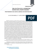 La economia politica de la democracia latinoamericana del nuevo milenio  por M V  Murillo y otra.pdf